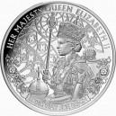 Královna Alžběta II. - nejdéle vládnoucí panovnice Spojeného království na atraktivní stříbrné minci