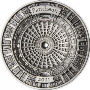 Fascinující kopule věhlasného římského Pantheonu - exkluzivní stříbrný mincovní skvost s hlubokým reliéfem