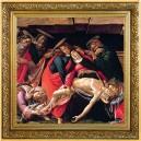 Umělecké dílo Oplakávání nad mrtvým Kristem od věhlasného Sandra Boticelliho na atraktivní stříbrné minci