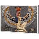 Nejuctívanější egyptská bohyně Isis na dech beroucím mincovním unikátu s broušenými drahokamy