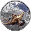 Kouzelná Aladinova lampa ze sbírky 1000 a 1 noc  - exkluzivní parciálně zlacená stříbrná mince s vysokým reliéfem