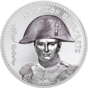 200. výročí věhlasného vojevůdce Napoleona Bonaparte na atraktivní stříbrné minci s vysokým reliéfem