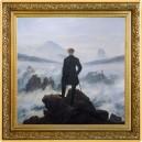 Umělecké dílo Poutník nad mořem mlhy od věhlasného Caspar Friedricha na atraktivní stříbrné minci