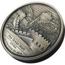 Legendární Velká čínská zeď na atraktivní stříbrné minci s vysokým reliéfem