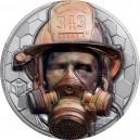 Hasiči skuteční hrdinové dnešní doby na atraktivní stříbrné minci s vysokým reliéfem