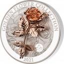 Unikátní 1 kg růže (3D) symbol lásky a krásy - umělecký mincovní skvost