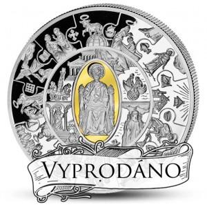 Apoštol Petr parciálně plátovaný zlatem