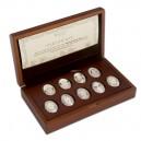 Imperiální Faberghého vejce - unikátní stříbrná sada s krystaly Swarovski