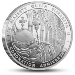 60. výročí korunovace Alžběty II. na stříbrné minci se strhující designem