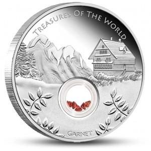 """Unikátní zlatá mince s červenými granáty ze světově známe série """"Poklady Austrálie"""""""