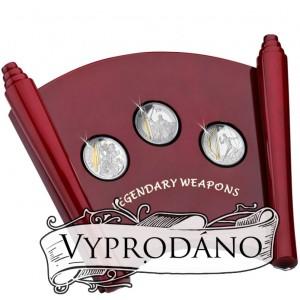 Legendární hrdinové a jejich zbraně - atraktivní stříbrná sada