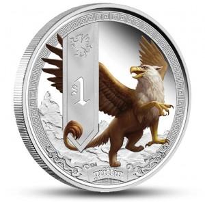 Bájný jednorožec na atraktivní kolorované minci