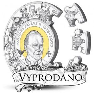 Kanonizace Jana Pavla II. - světově významná událost vyobrazena na atraktivní stříbrné minci (1 kg)