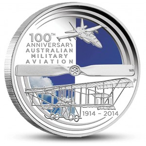 100. výročí australského vojenského letectva na atraktivní stříbrné minci