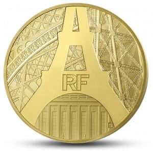 Eiffelova věž - slavná francouzská ikona na atraktivní minci