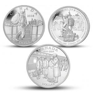 100. výročí vyhlášení první světové války - atraktivní sada stříbrných mincí