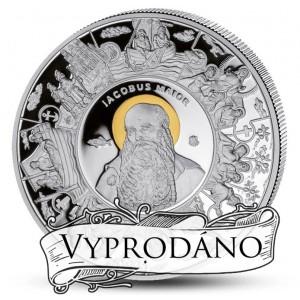 Apoštol Jakub - učedník Ježíše Krista na atraktivní stříbrné minci