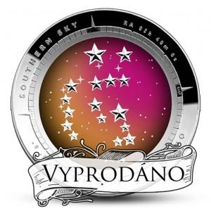 Atraktivní vyobrazení Souhvězdí Orion na originální stříbrné minci