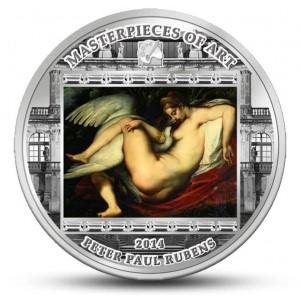 Léda s labutí od věhlasného umělce Petera Paula Rubense
