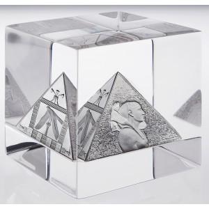 Věhlasné egyptské Velké pyramidy - mistrovský mincovní exemplář v exkluzivním boxu