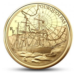 Legendy francouzského námořnictva - Porqui Pas na atraktivní zlaté minci