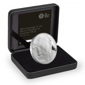 50. výročí sira Winstona Churchila na exluzivní stříbrné minci