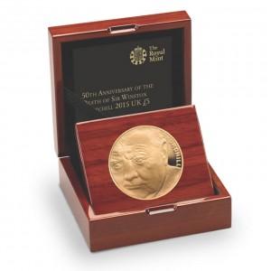 50. výročí sira Winstona Churchila na exluzivní zlaté minci