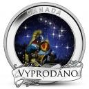 Souhvězdí Velký vůz na originální minci, které svítí ve tmě stejně jako hvězdy