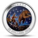 """Souhvězdí Velký vůz na originální minci, kdy hvězdy se rozzáří přímo u Vás doma ve tmě (""""Velký vzestup"""")"""