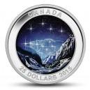 """Souhvězdí Velký vůz na originální minci, kdy hvězdy se rozzáří přímo u Vás doma ve tmě (""""Věčné pronásledování"""")"""