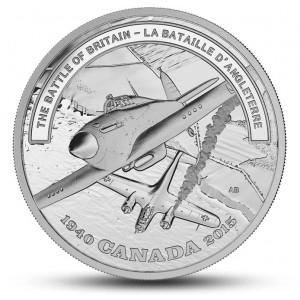 75. výročí legendární bitvy o Velkou Británii na atraktivní stříbrné minci