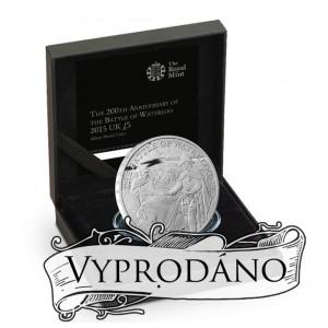 200. výročí věhlasné bitvy u Waterloo na atraktivní stříbrné minci