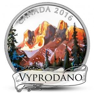 Fascinující umělecké vyobrazení kanadské přírody - skalnaté hory