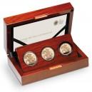Poslední a jubilejní výroční zlatá sada Velké Británie s unikátním portrétem královny (3+1/2 Sovereign)
