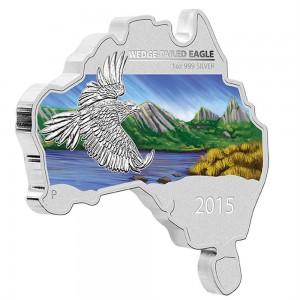 Orel Klínoocasý - symbol Austrálie na atraktivně tvarovaní minci