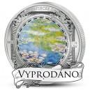 Lekníny od Claude Moneta -  - atraktivní stříbrná mince s krystaly Swarovski
