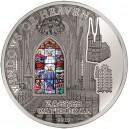 """Záhřebská katedrála s oknem Nanebevzetí - atraktivní stříbrná mince s populární série """"Nebeská okna"""""""