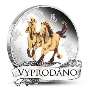 Feng - šuej Kůň - symbol vítězství na atraktivní stříbrné minci