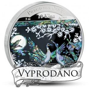 Originální mince z lásky s perletí - každá mince je unikátní