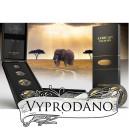 """Africká divoká příroda - sloni - z exkluzivní série """"Zlatá Enigma"""""""