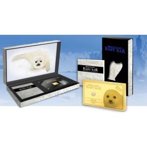 Tulení mládě v sněžné krajině - atraktivní mince s bílým diamantem