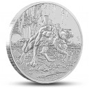 Kerberos - mytologické antické stvoření na atraktivní stříbrné minci