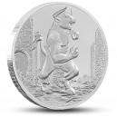 Minotaur - mytologické antické stvoření na atraktivní stříbrné minci