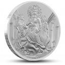 Gorgony - mytologické antické stvoření na atraktivní stříbrné minci