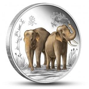 Feng - šuej Slon - symbol moudrosti, síly a moci na atraktivní stříbrné minci