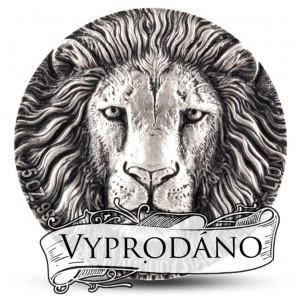 Král zvířat - exkluzivní stříbrná mince s vysokým reliéfem
