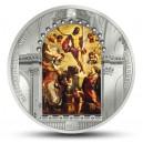 Znovuzrození Ježíše Krista od Tintoretta - atraktivní mince s krystaly Swarovski