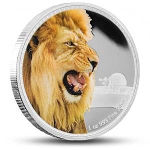 Lev africky z populární série vládci kontinentů