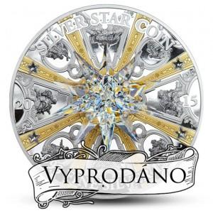 Moravská hvězda - největší krystal Swarovski v historii numizmatiky - pouze 199 kusů pro celý svět