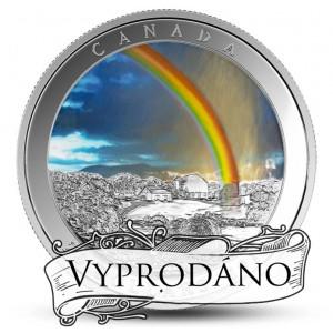 Duha - fascinující přírodní úkaz na stříbrné minci (speciální kolorování)